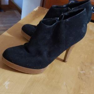 Lola black suede booties 7.5